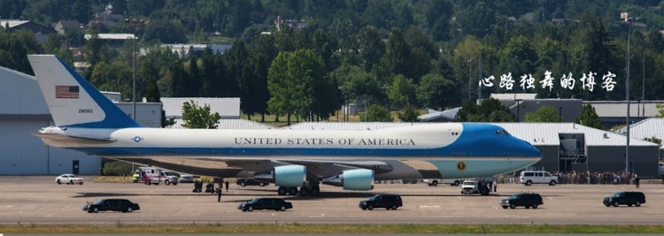 Air Force One Carrying the President's Armored Car