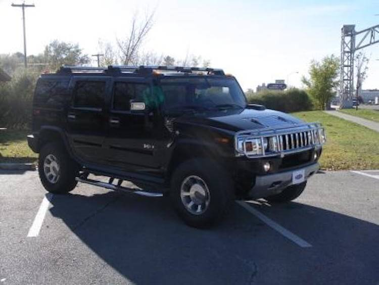 Armored Hummer H2 with Lightweight Armoring