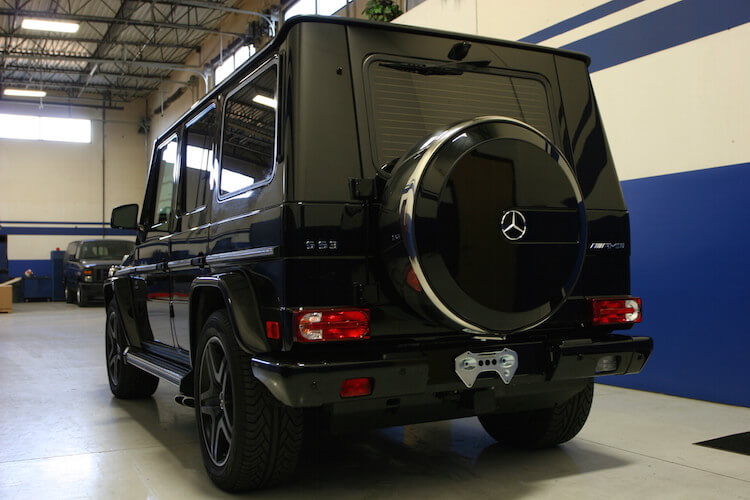 Armored Mercedes Benz G63 AMG Bulletproof Rear View