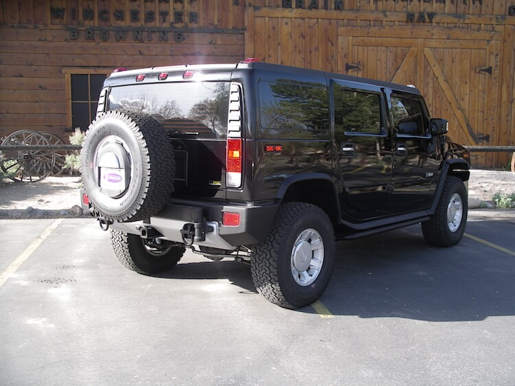 Armoured Hummer H2 Rear R Angle