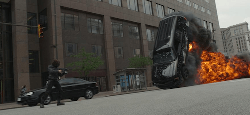 Attacked Nick Fury Car