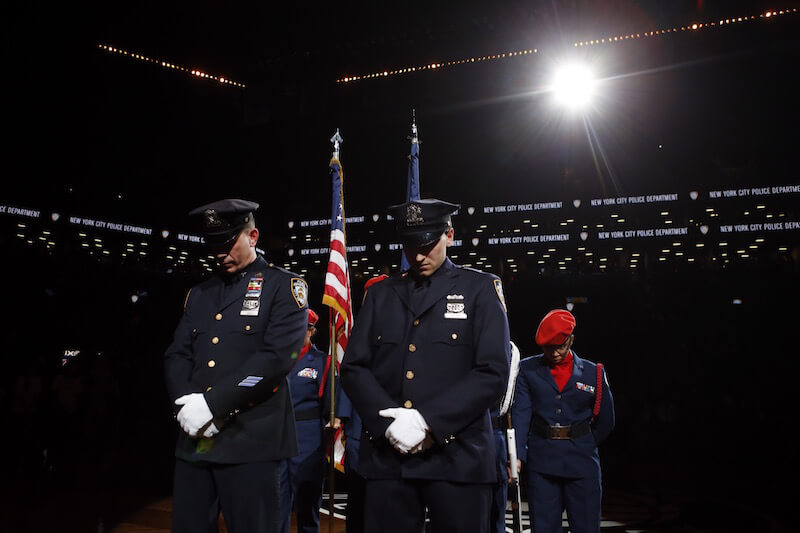 Ceremony for Police Officers