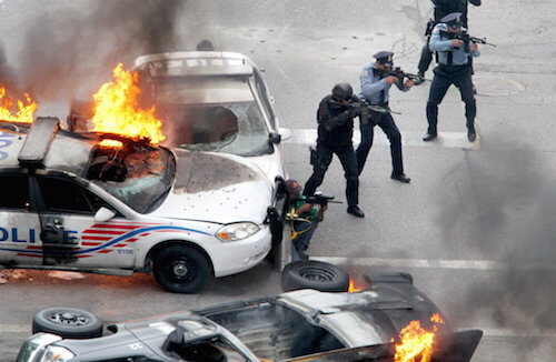 Police Car Chase Nick Fury Armored Car
