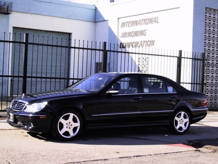 Mercedes Benz Armoured Bulletproof Packages from International Armoring Sedans