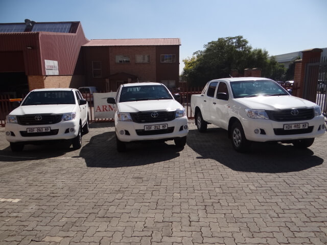 Three Armored Bulletproof Toyota Hiluxs for Sale
