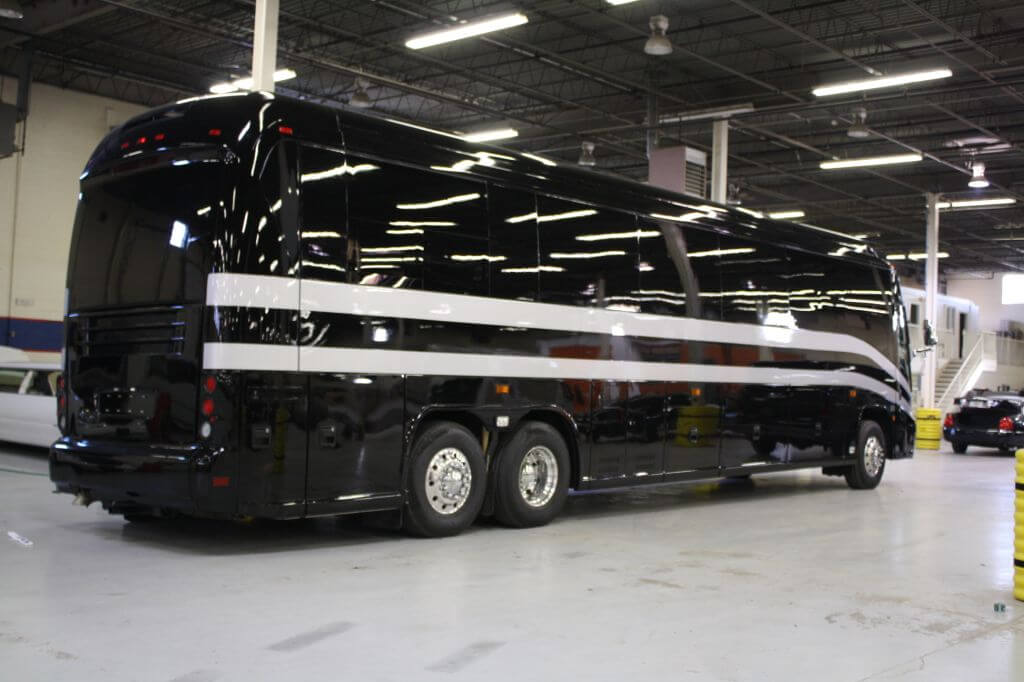Armored bullet proof Buses Side Views