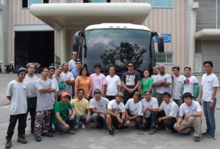 Team International Armoring Working on Armored Buses