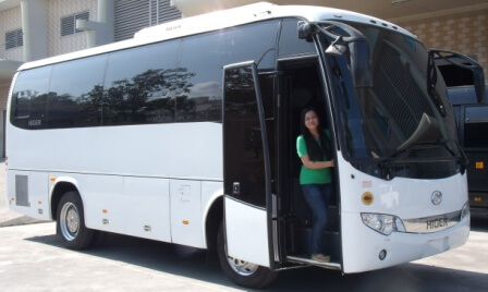 White Armored Bus