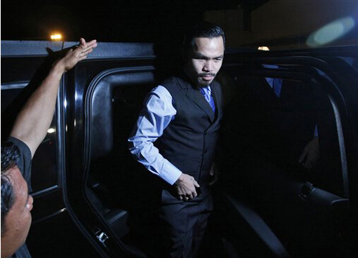 Manny Pacquiao Rides in Luxury Cars Versus Floyd MayWeather