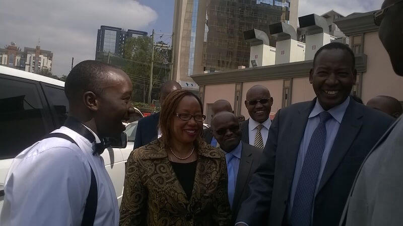 Armormax Kenya MD John Ndolo with Kenya Government Officials at Kenya Armored Cars EACT EXPO