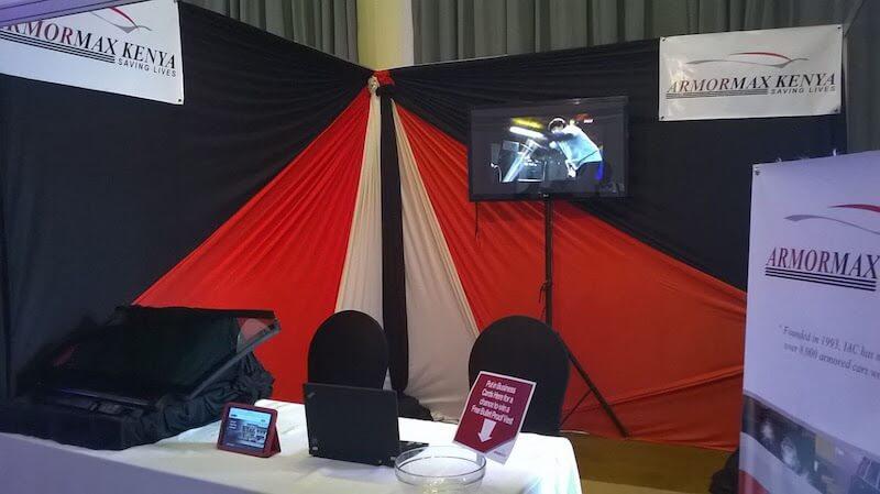 Booth Armored Cars Armormax Kenya Stand EACT EXPO Nairobi