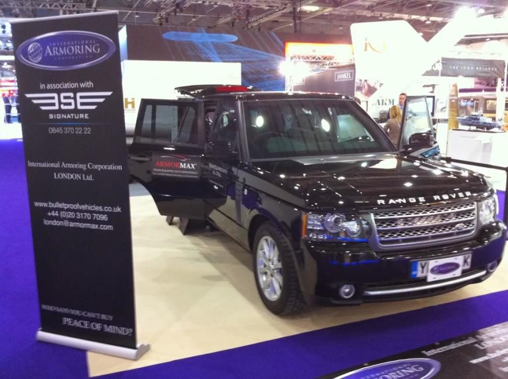 Armoring Show IDEX Range Rover UK