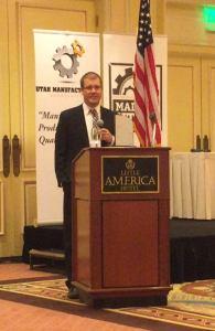 Utah Manufacturer Award Speak