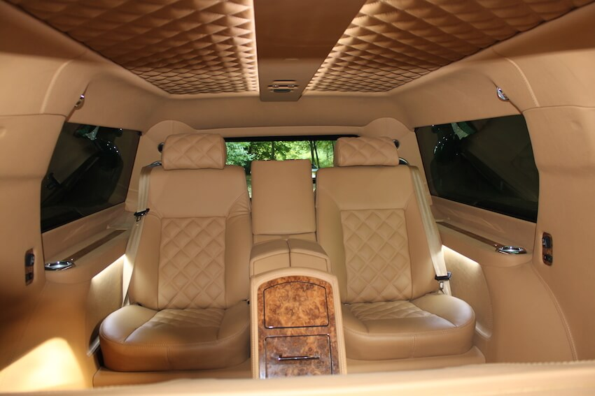 Fully Customized Bulletproof Cadillac Escalade Armormax Interior