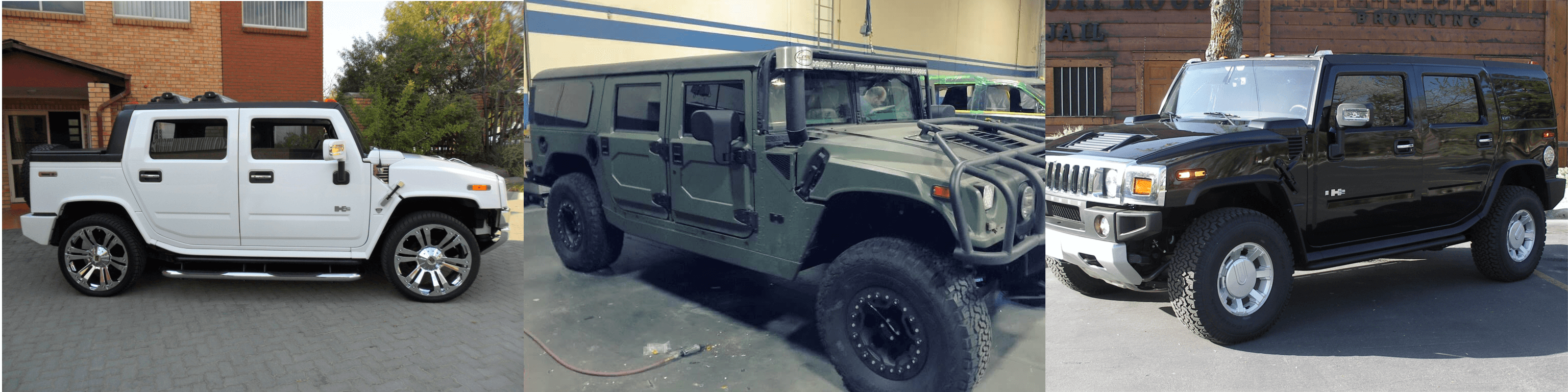 Armored Hummers