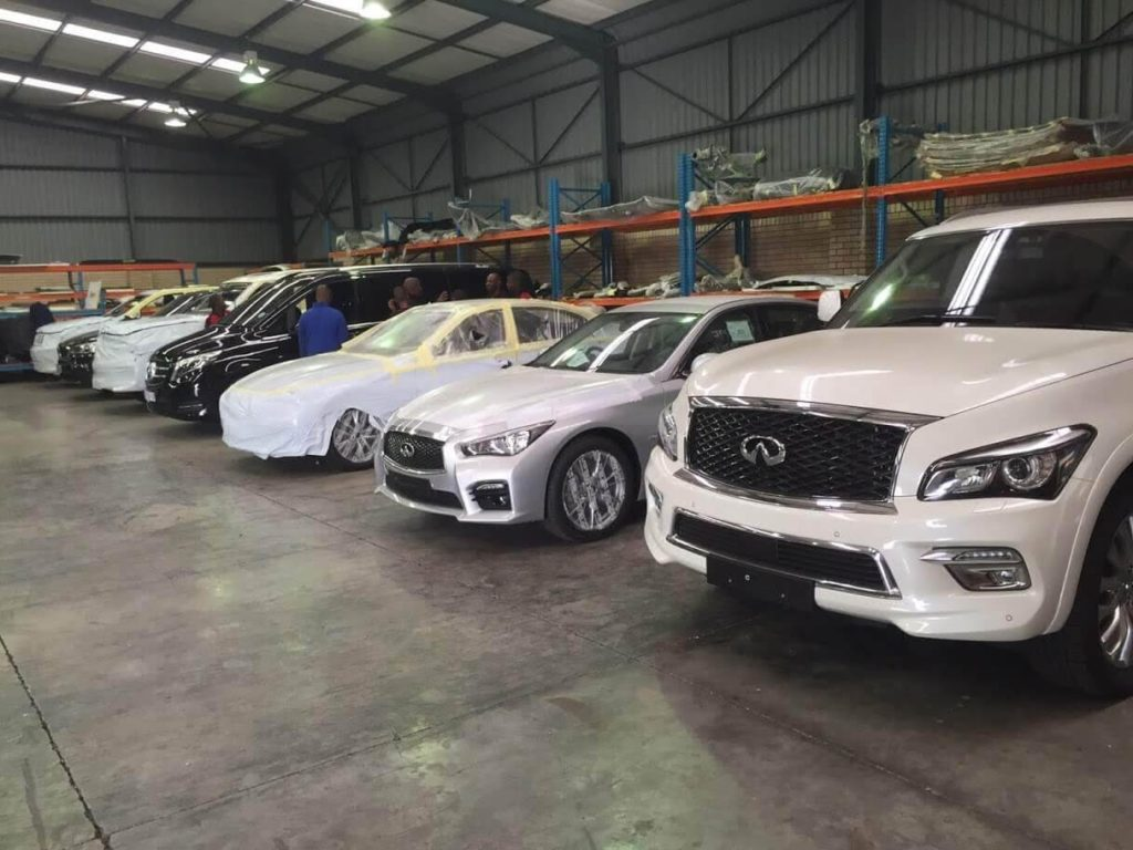 Bulletproof Armoured Infiniti SUV Armormax Cars in Production