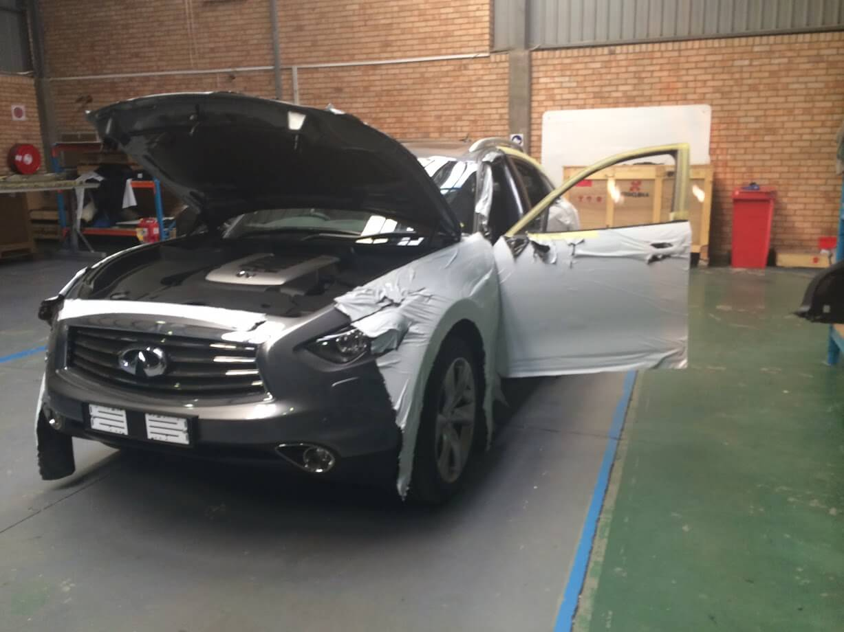 Bulletproof Armoured Infiniti SUV Armormax Production Wrapping