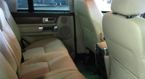 image of seats from an armored Land Rover LR4