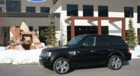 side view of a bulletproof Land Rover Range Rover Sport