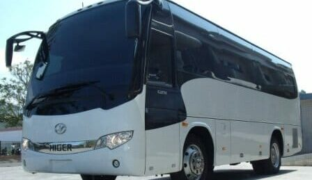 front view of a bullet proof bus