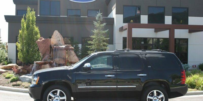 side view of bulletproof Chevy Tahoe