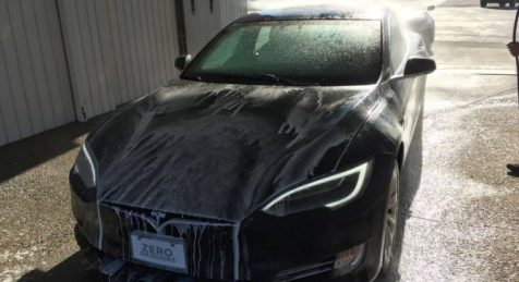 Armormax Armored Tesla Model S P100D Car Wash
