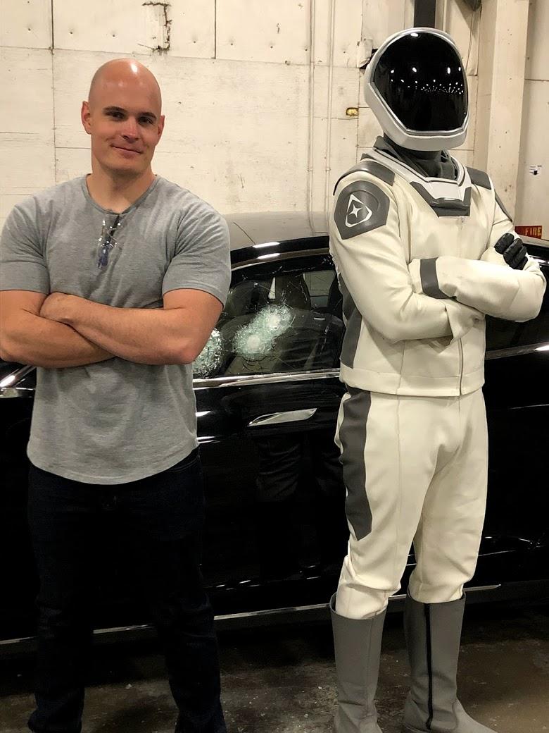 Bulletproof Tesla with Starman and Armormax