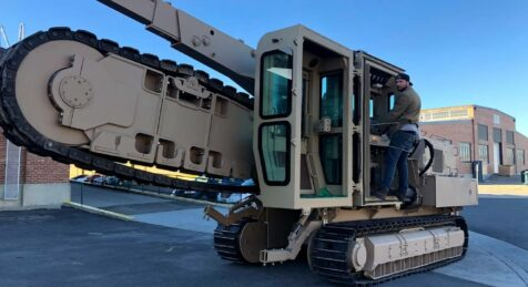 Driving Armored Vermeer Trencher