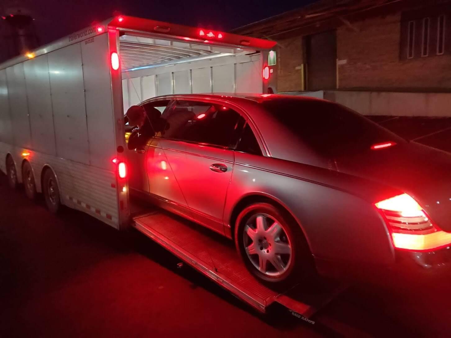 Transporting bulletproof Car
