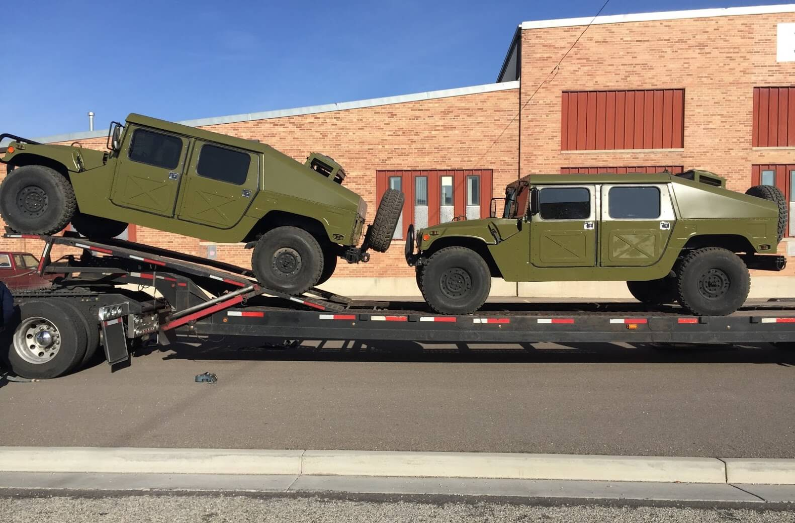 Shipped Green Military Armored Hummers Armormax