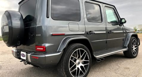 2020 Silver Armored Mercedes Benz G 63 AMG with Armormax Side