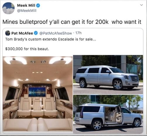 Meek Mill Sell Bulletproof Escalade