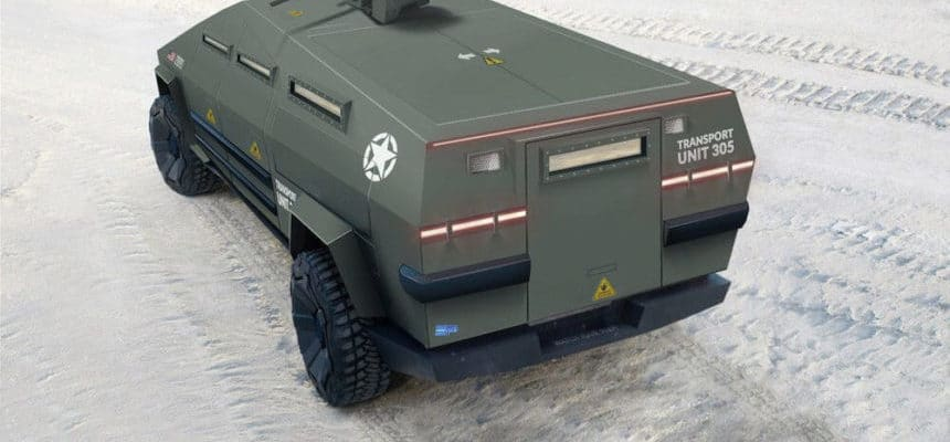 Peisert Design Military Concept Tactical Cybertruck Bulletproof with Armormax