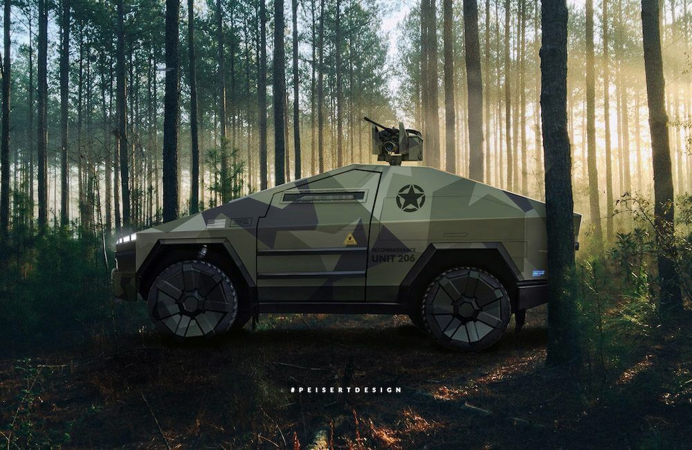 Peisert Design Military Tactical Cybertruck Bulletproof with Armormax