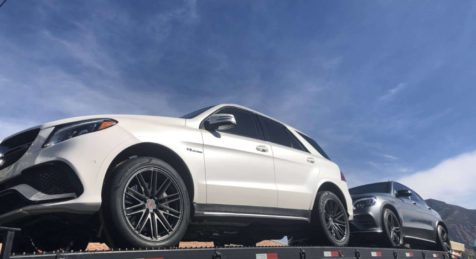 Shipping Bulletproof Mercedes Benz GLE 63 SUV AMG Transport