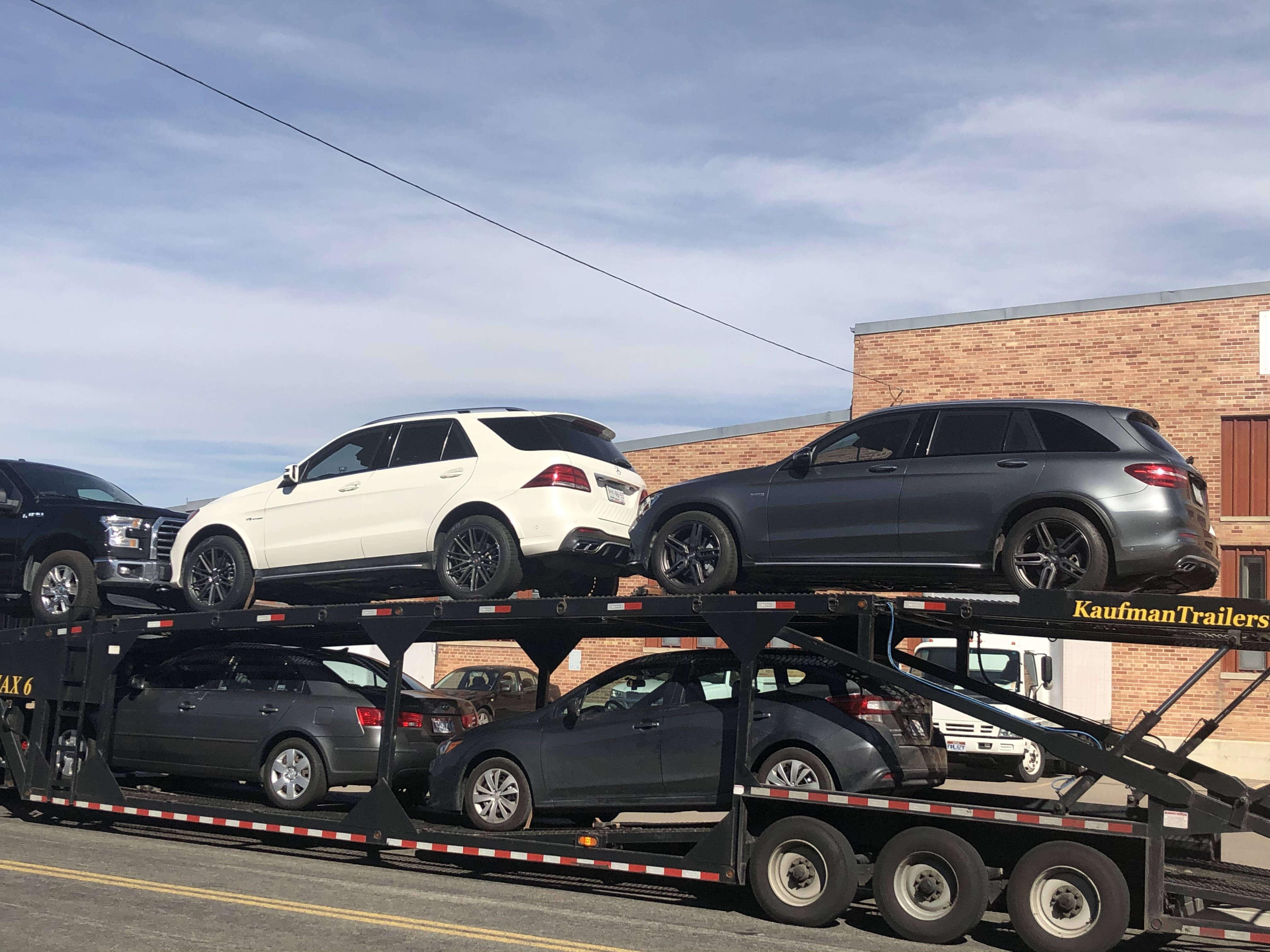 Transporting Bulletproof Mercedes Benz GLC 43 Armormax Sedan Exterior