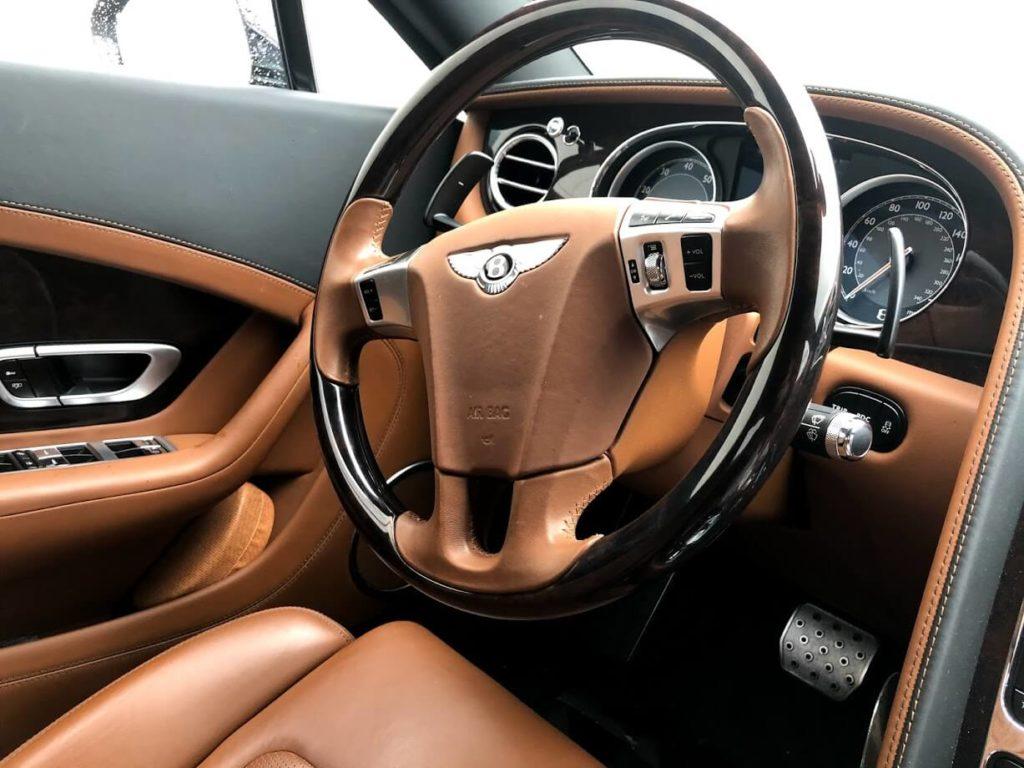 Armored Bulletproof Bentley Contiential W12 from Armormax Steering Wheel