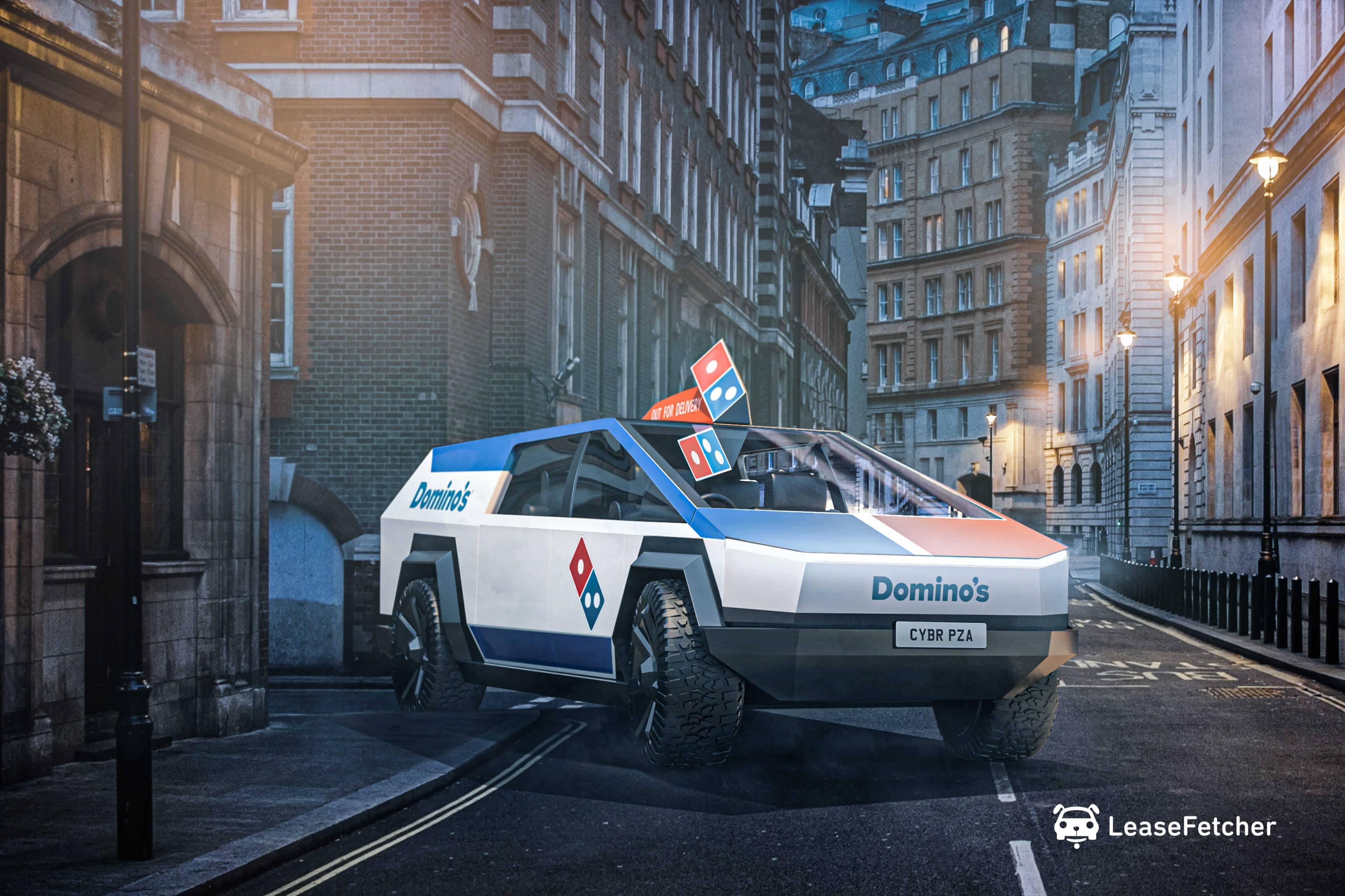 Dominos Cybertruck - LeaseFetcher