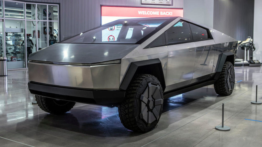 Tesla Cybertruck at Petersen Photo Gallery To Be Bulletproof