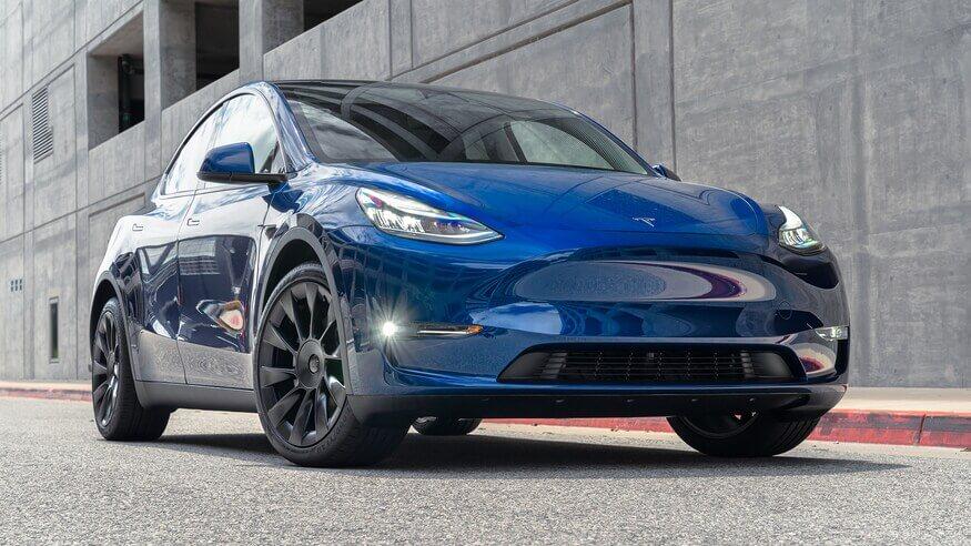 Armored 2020-Tesla-Model-Y-Dual-Motor-Armormax-Bulletproof-SUV-Blue Exterior