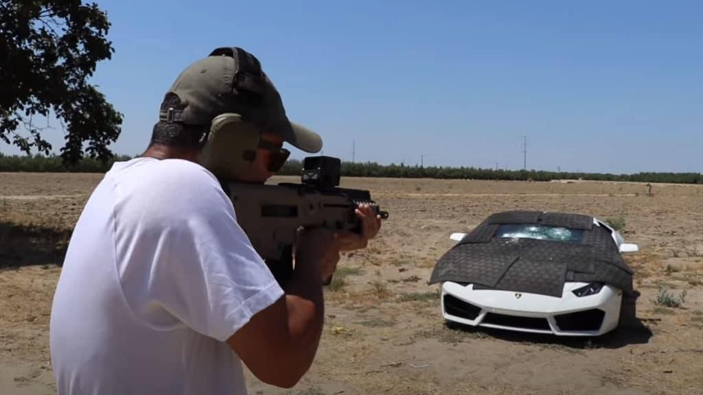 Edwin Shooting at Bulletproof Lamborghini