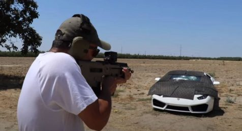 Edwin Shooting at Bulletproof Lamborghini