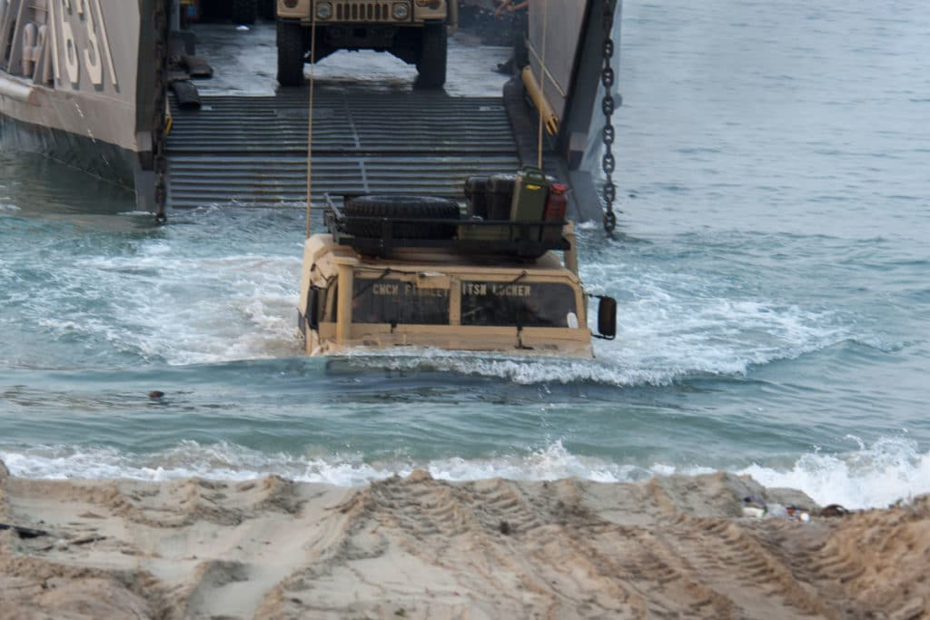 Military Humvee has Submarine Capability