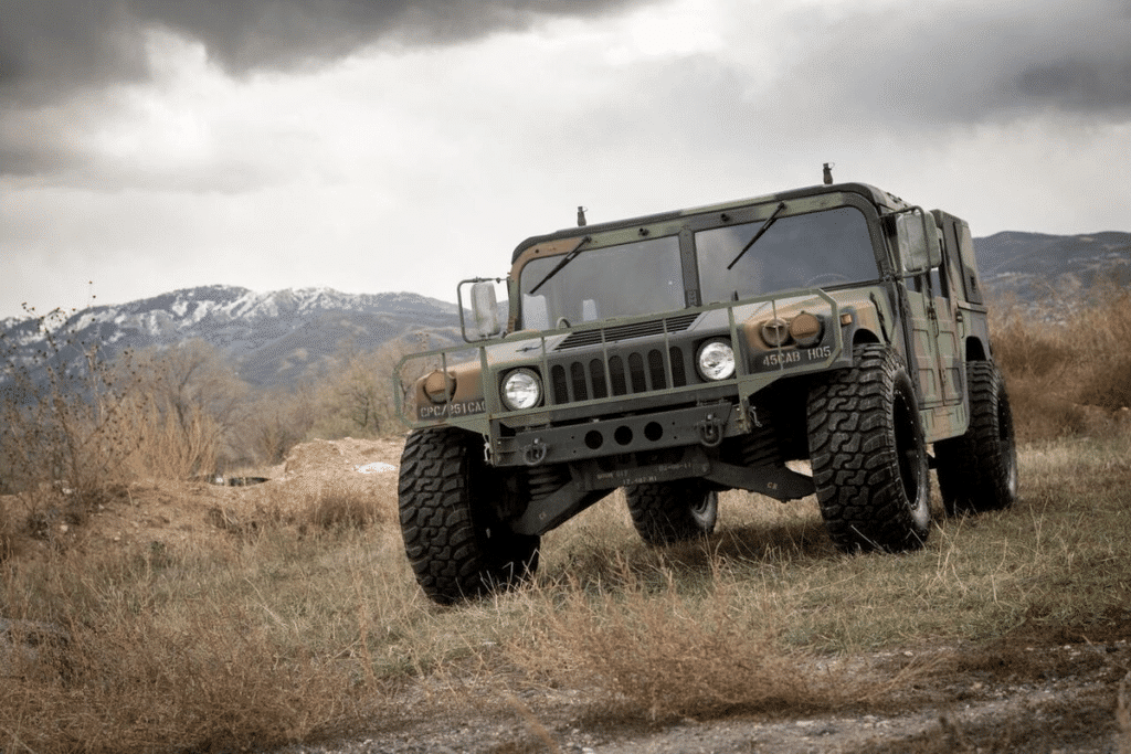 Military Humvee is Always Off-Road Ready