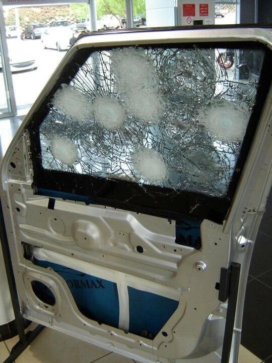 Armoring Sample Door Ballistic Test