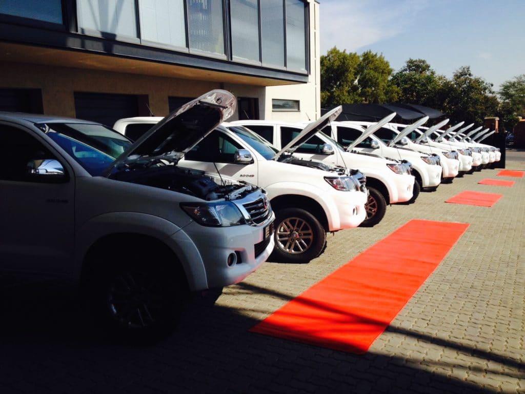 Fleet of Bulletproof Cars