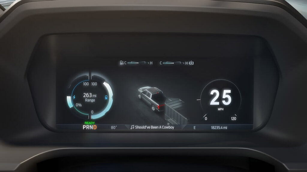 Armored F-150 Lightning from Armormax Dash Hud Display