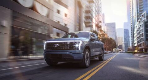 Armored F-150 Lightning from Armormax Reservation City Driving